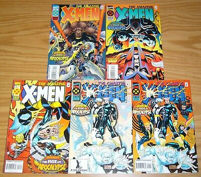 Amazing X-Men #1-4 VF/NM complete series + x-tra edit. variant AGE OF APOCALYPSE