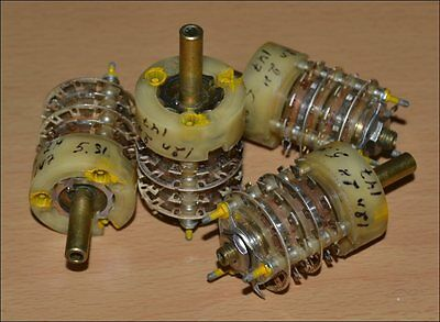 2P12T 2P-12T Hermetic Rotary Switches. Military grade. Price for 4