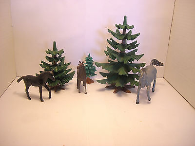 LGB G scale Train Decoration Layout TREES HORSES  L.G.B. Gauge IIm