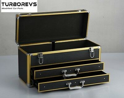Neo Aluminium Tool Box Chest Storage Carry Case With 2 Drawers
