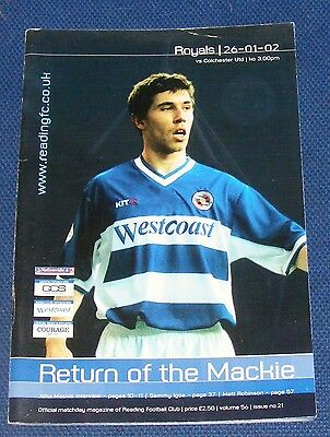 Reading Home Programmes 2001-2002