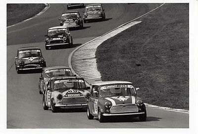 "MINI,s RACING IN THE UNIPART ""DCM"" RACE CAR No.74 LEADING PHOTOGRAPH."