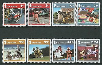 Isle Of Man 2016 Aardman Characters, Wallace And Gromit Etc. Set Of 8 Um, Mnh