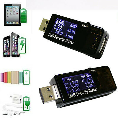 LCD USB Charger Capacity Current Voltage Tester Meter For Phone Power Bank