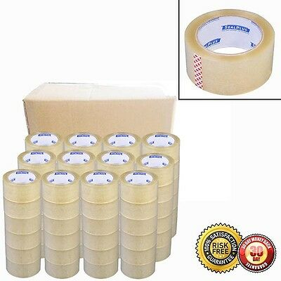 "New Box Carton Sealing Packing 72 Rolls- 2""x110 Yards(330' ft) Package Tape"