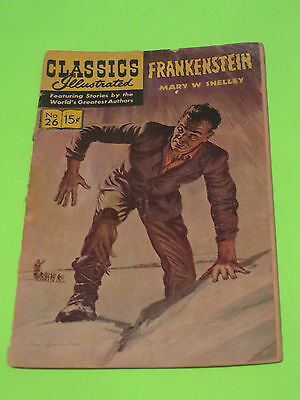 Classics Illustrated Frankenstein By Mary Shelly Comic Book Horror Story