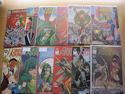 GREEN ARROW :COMPLETE RUN #s 1,2,3,4,5,6,7,8,9,10,11 by GRELL etc.DC.1988