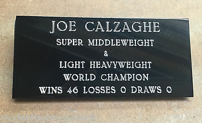 Large Engraved Name Plate For Boxing Glove & Other Sport Memorabilia Ep113P