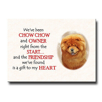 CHOW CHOW Friendship FRIDGE MAGNET Gift DOG