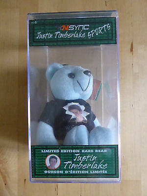 JUSTIN TIMBERLAKE N'SYNC Limited Edition RARE BEAR numbered SEALED in BOX NEW