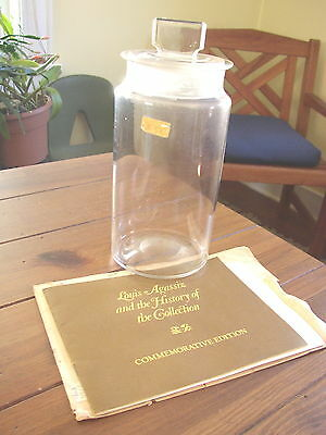 Louis Agassiz Collection antique flint glass Specimen Jar, numbered with COA