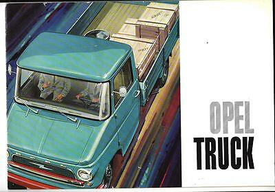 1963 OPEL Dropside Truck Brochure English Language