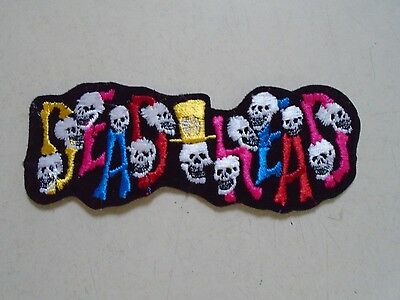 GRATEFUL DEAD - Vintage Iron-on Patch / DEADHEAD w/Skulls / Exc. new cond. 2x5""