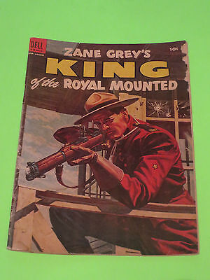 1954 Zane Grey's King Of The Royal Mounted No.16 10 Cent Dell Comic Police