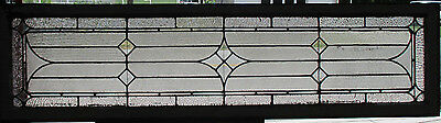 ~ Antique American Stained Glass Transom Window 78 X 20 ~ Architectural Salvage