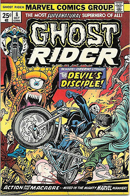 Ghost Rider Comic Book #8, Marvel Comics 1974 VERY FINE+