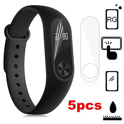 For Xiaomi Mi Band 2 Smartband 5pcs Anti-Scratch TPU Screen Protector Cover Film