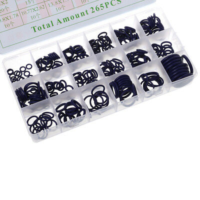 265Pcs 18 Kinds R134a A/C System Air Conditioning O Ring Seals Washer Assorted
