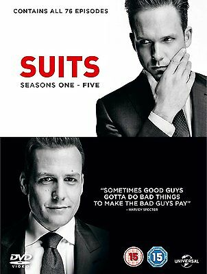 Suits Series complete season 1, 2, 3, 4 & 5 DVD Box Set New Sealed TV