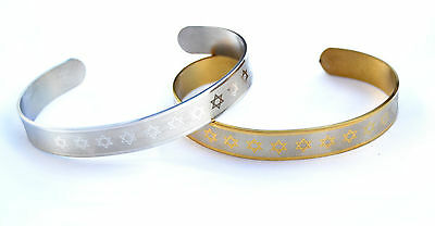 lot 2 Bracelet Star of David/Magen David Wristband Stainless-Silver&gold Color
