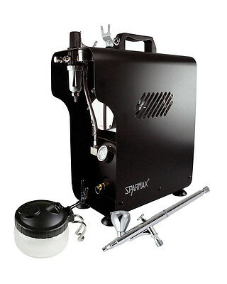 Professional Airbrushing Kit - Sparmax SP-20X Airbrush & Sparmax 620X Compressor