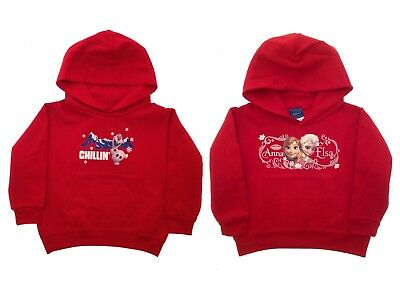 Disney Frozen Christmas Jumpers Hooded Top Elsa Anna Olaf Hoodie Hooded Size