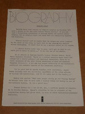 Burning Spear 1975 Island Records Press Release