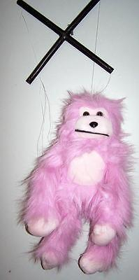 blue fuzzy plush monkey string puppet marionette large 15 inch toy