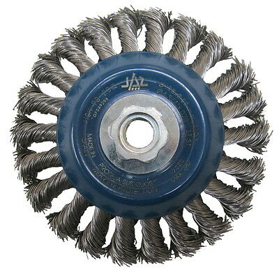 Stainless Steel Bevel Wire Brush Wheel. 100 mm or 115 mm. For Angle Grinders.