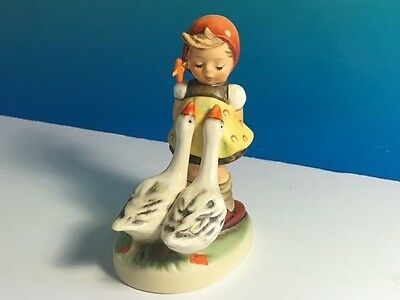 Vintage Goebel Hummel Figurine West Germany Goose Girl 47 And 3/8 Rare Original