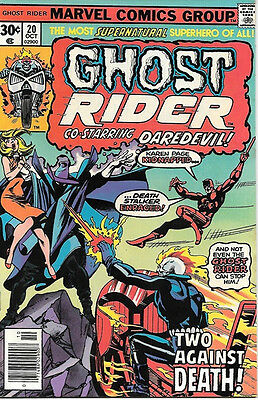 Ghost Rider Comic Book #20, Marvel Comics 1976 NEAR MINT