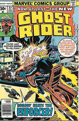 Ghost Rider Comic Book #22, Marvel Comics 1977 VERY FINE/NEAR MINT