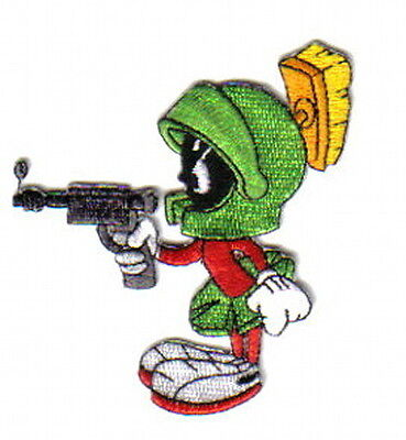 Looney Tunes Marvin The Martian Pointing Raygun Figure Patch, NEW UNUSED