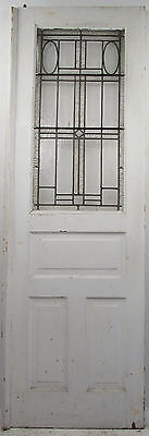 Vintage Stained Glass Door (9442)NJ