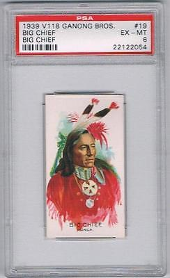1939 V118 Ganong Bros. Big Chief Trading Card #19 Big Chief Graded PSA 6