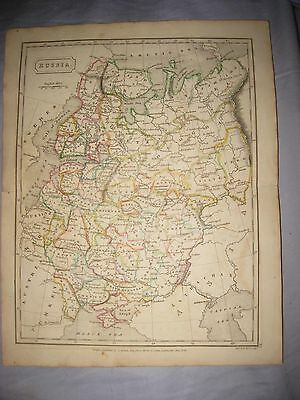 Superb Antique 1826 Russia Poland As Warsaw Crimea Butler Handcolored Dated Map