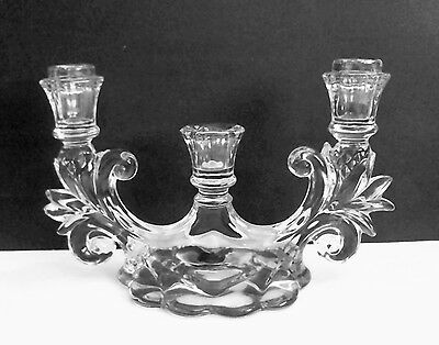 Cambridge Caprice Triple Candelabra Candle Holder #1358 Cambridge Arms
