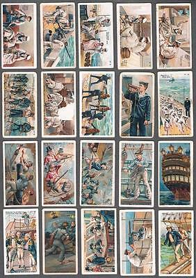 1910 ITC C49 British Man of War Tobacco Cards Complete Set of 50