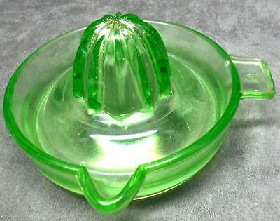 Federal Vaseline Glass Juicer Reamer Green Vintage