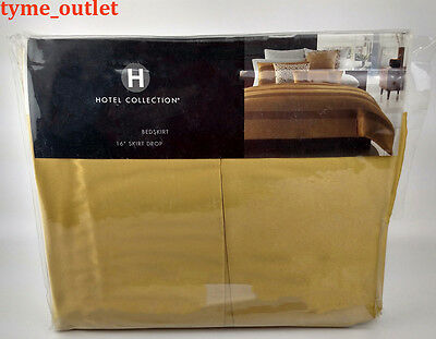 Hotel Collection Bedskirt Palace CAL KING Gold Yellow Bed Skirt