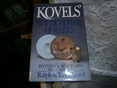 Book-Kovels' New Dictionary of Marks, Pottery & Porcelain 1850 to present HC DJ