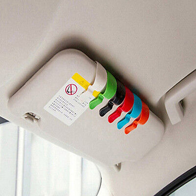 2 Pcs Auto Car Vehicle Visor Sunglasses Glasses Card Pen Holder Ticket Clips