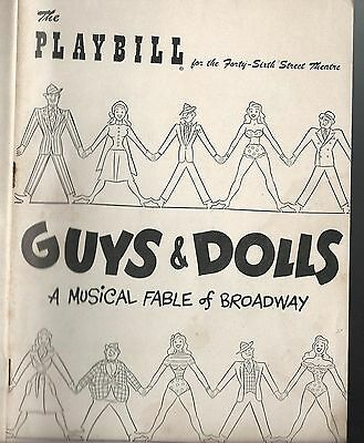 1951 Guys & Dolls Playbill A Musical Fable on Broadway 46th Street Theatre
