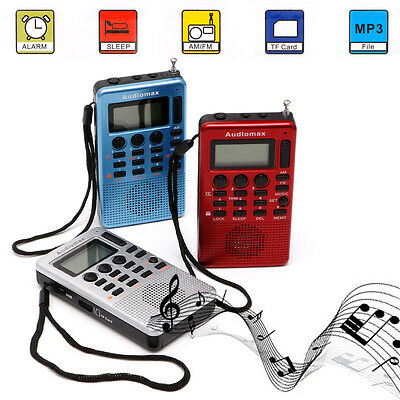 Portable REC LCD Digital Receiver AM FM Radio Band Recorder MP3 Music Player
