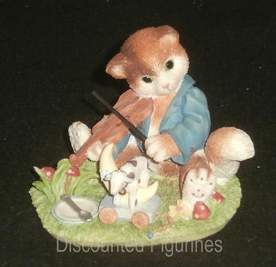 Calico Kittens Enesco Figurine Hey Diddle Diddle The Cat And The Fiddle #166456
