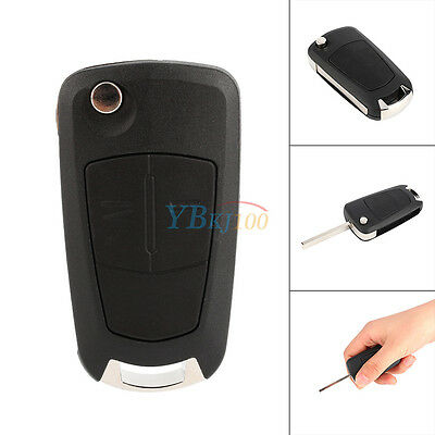2 Button Remote Flip Key Case Fit For Vauxhall Opel Corsa Astra Vectra Zafira