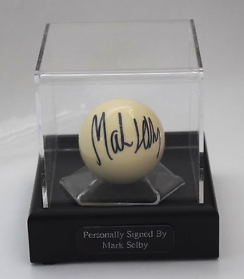 Mark Selby Signed Autograph Snooker Ball Display Case Sport AFTAL PROOF & COA