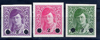 YUGOSLAVIA 1919 Surcharges, fine hinged mint