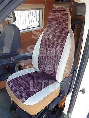 To Fit A Fiat Ducato Motorhome, 2013, Seat Covers, Neelam Mh-033, 2 Fronts