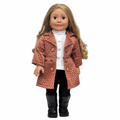 """5 Pc Doll Outfit, Clothing, Boots For 18 """" Inch American Girl Clothes, Shoes AVE"""